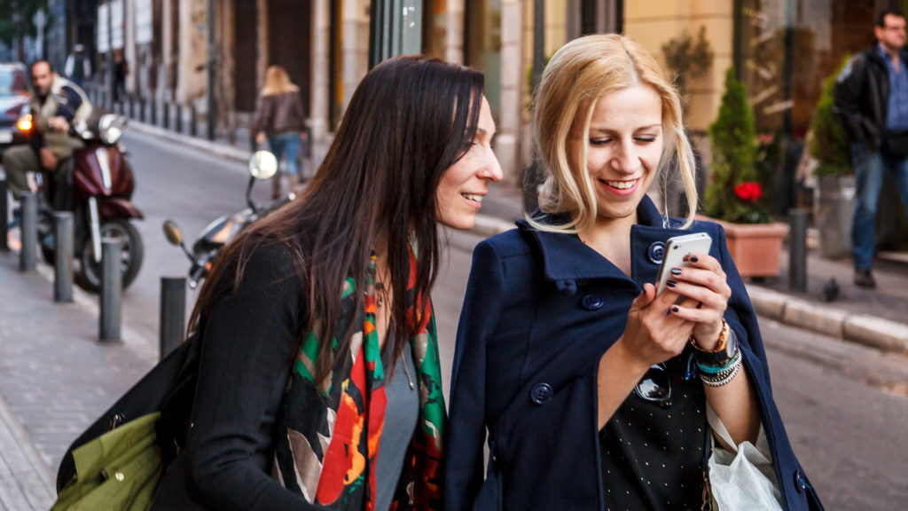 Mobile phone usage is one sign we're in the digital age.