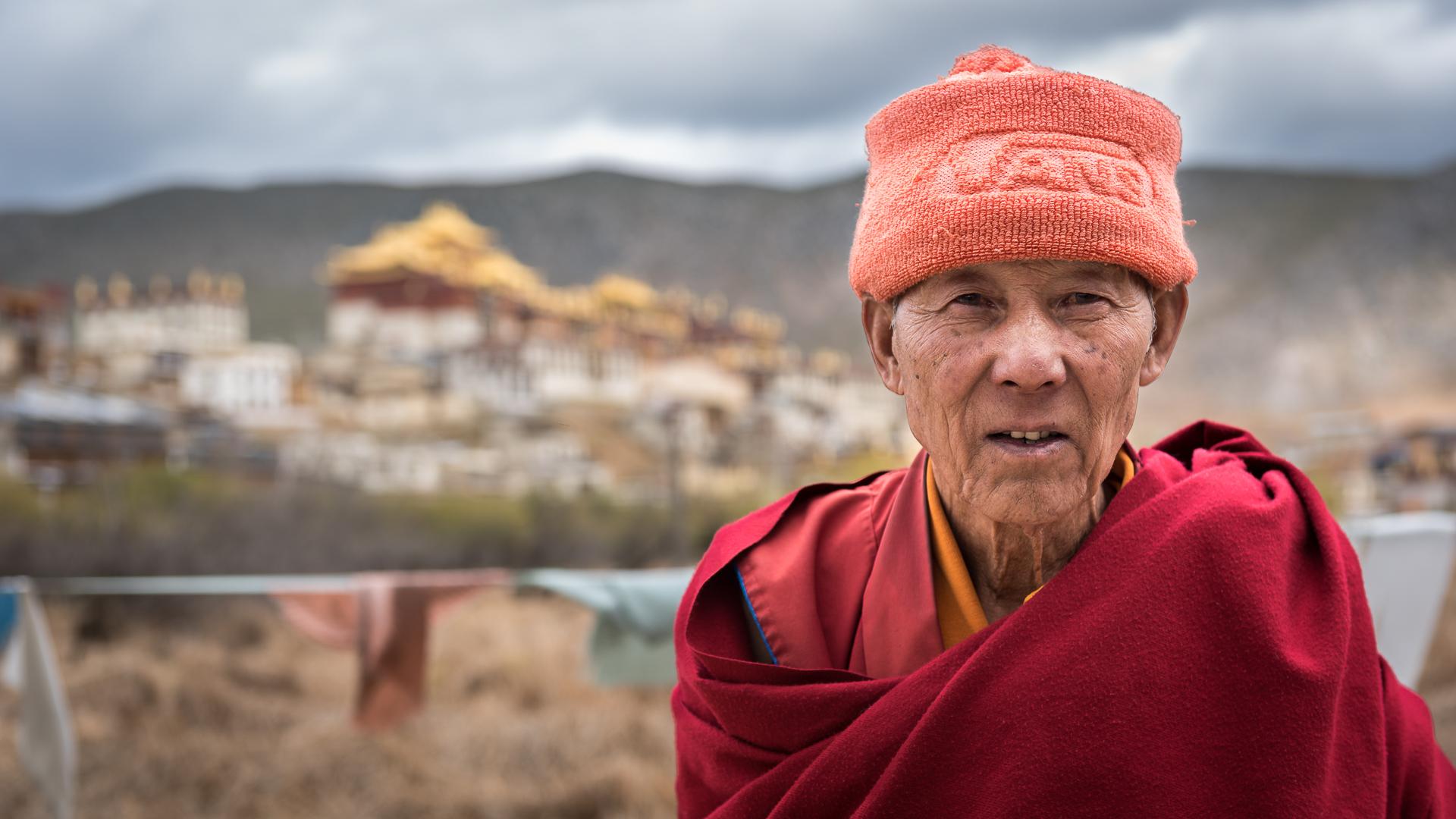 A Tibetan buddhist monk