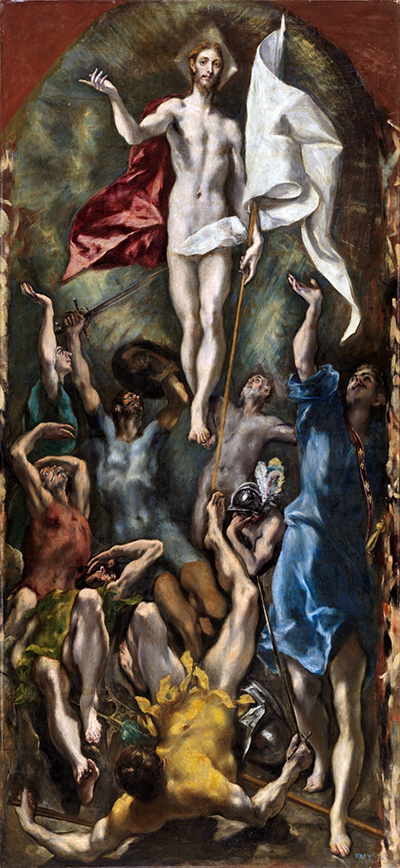 The Resurrection by El Greco