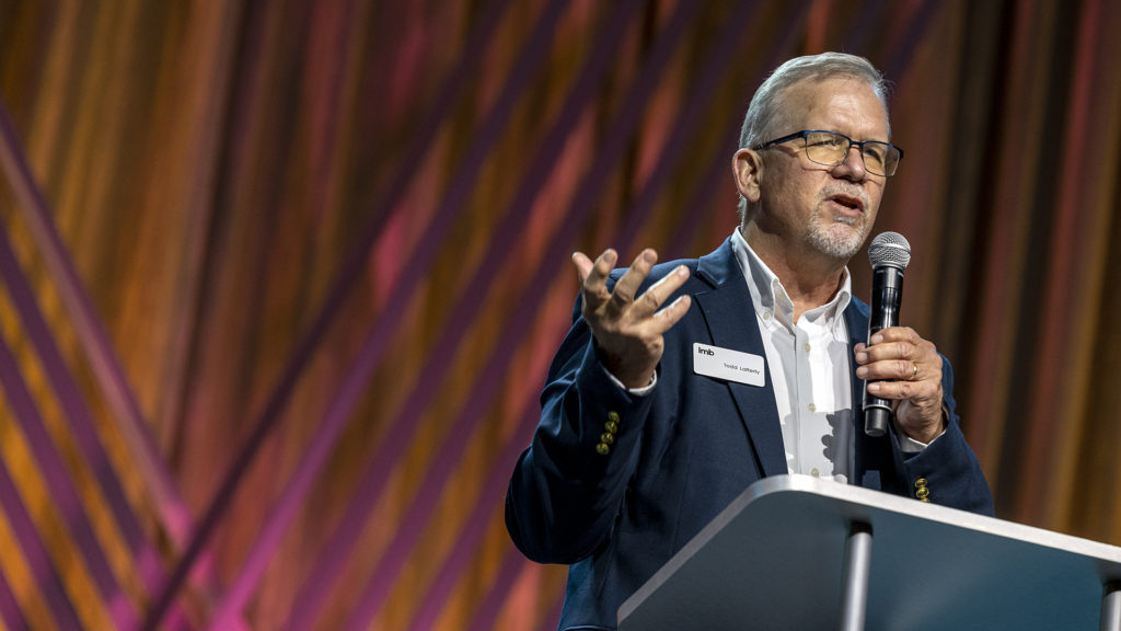 Todd Lafferty, EVP of the IMB, welcomed 1,500 participants to the IMB dinner on June 14, 2021.